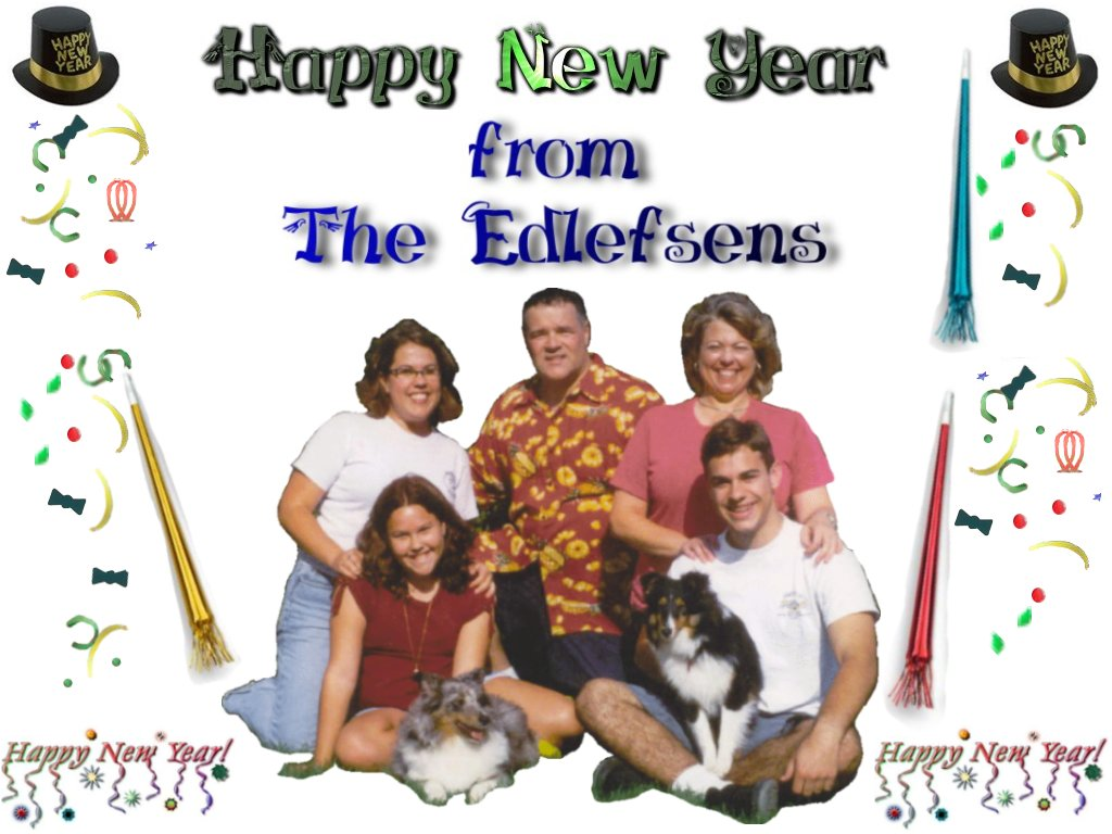 happy new year from the edlefsens